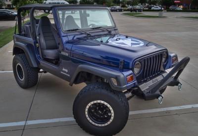 Rare 1997 Jeep Wrangler – Dark Montego Blue Pearl- Paint code PCJ